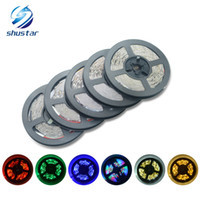 Wholesale dc 11 - 3528 SMD Waterproof 5M 300 600 Leds flexible led strips light DC 12V warm cool white red green blue