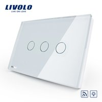 livolo wall light switch Canada - Livolo US AU standard Dimmer Remote Home Wall Light Switch, AC 110-250V,White Glass Panel, VL-C303DR-81,No remote controller