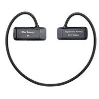 mikro sd kartlı kulaklıklar toptan satış-Toptan-Daono F5 Bluetooth MP3 Çalar Spor mp3 Müzik Çalar Kablosuz Kulaklık Kulaklık Desteği FM 16 GB Micro SD TF Kart