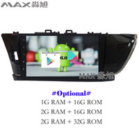 Wholesale Toyota Corolla Touch Screen Radio - Android 6.0 Car DVD Player for Toyota corolla 2014 2015 2016 with Car Radio DAB+ BT 4G WIFI SWC GPS free map