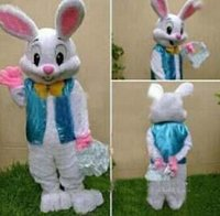 Wholesale Bunny Pink Costume - 2018 new professional Easter bunny mascot cartoon clothing adult rabbit cartoon mascot costume fancy dress free shipping.