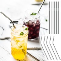 Wholesale eco reusable - 30oz 20oz Stainless Steel Straw Reusable Straws Straight Curved 304 Metal Straws Different Size Drinking Tool For Beer Fruit Juice Drink