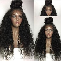 Wholesale Lace Wig Fiber - MHAZEL heat resistan fiber baby hair kinky curly real hair heat resistant fiber synthetic glueless front lace wig