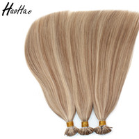 Wholesale i tip indian virgin hair - I-Tip piano 18# 22# color Brazilian 18inch Human Hair top quality Virgin Remy human Hair Extensions Weave Customized Free Shipping