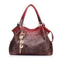 Wholesale Red Flower Knitted - Hot 2018 women messenger bags beautiful Women Handbag fashion printing Flowers bag sweet women bag