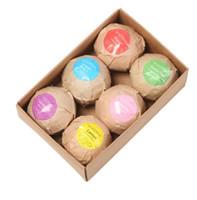 Wholesale essential oils bath resale online - Bubble Bath Bombs Gift Set g Rose Cornflower Lavender Oregon Essential Oil Lush Fizzies Scented Sea Salts Balls Handmade SPA Gift