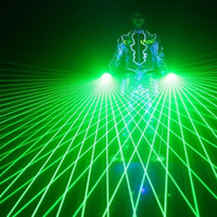 luz de baile láser verde al por mayor-1 Unids Super Cool Green Laser Gloves Dancing Stage Show Light Con 4 pcs Láseres Luminosos Guantes Light para DJ Club Party Bars