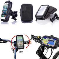 bisiklet su geçirmez telefon tutucu kılıf toptan satış-Motosiklet Bisiklet Telefon Tutucu iPhone 7 Için 6 6 s Artı Xiaomi Huawei Desteği Cep Telefonu Su Geçirmez Kılıf Çanta Kabuk Ile Standı