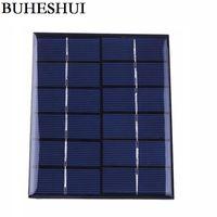 painel solar policristalino 6v venda por atacado-2 w 6 v policristalino painel solar celular diy sistema solar módulo 5 pçs / lote frete grátis