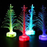 Wholesale plastic xmas ornament - Novelty Luminous Xmas Ornament Plastic LED Light Up Christmas Tree For Home Decoration Supplies Glowing In The Dark 1 6rl B