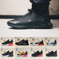 Wholesale Lace Punch - (with box) 2018 Newest mens White Triple Black Hot Punch Teal 270 Trainer Sports Running Shoes Womens sole 270 Sneakers 36-45