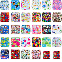 Wholesale new born baby diapers resale online - Infant cartoon print adjustable Swim Diapers Cover Cloth Reusable Leakproof baby Diaper Covers pants kids Bread pants styles C4215