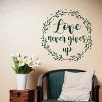 canlı yayın toptan satış-Çıkarılabilir Kutsal Hıristiyan Aşk Asla Gives Up Duvar Çıkartmaları Oturma odası yatak odası ev Dekorasyon Için