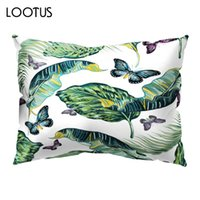 ingrosso cuscini di flamingo-Flamingo Pattern Sofa Pillowcases Throw Pillow Cases Poliestere durevole Confortevole Ufficio Soft Living 50 * 30CM