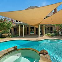 ingrosso copri parasole-Outdoor UV triangolo Sun Shelter Sunshade vela copertura baldacchino per patio piscina prato desert sabbia campeggio tenda da picnic