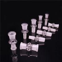 kuppeladapter groihandel-Glas Adapter Konverter 12 Arten 10mm 14mm 18mm Bis 10mm 14mm 18mm Weiblich Männlich Glaskuppel Adapter Für Öl Rigs Glasbongs