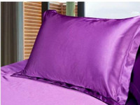 Wholesale pink white black bedding for sale - Group buy 2pcs Silk Pillow Cover Standard Single Pillowcase Solid Silk bed Pillow Case White Black Pink Purple cm