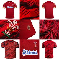 Wholesale white pattern shirt - Cheap Adults 2016 2017 2018 Wales WRU 75 Home Thailand Quality Shirts NRL National Super Rugby League Printed Patterns S-3XL Jerseys
