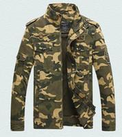 chaquetas de uniforme de los hombres al por mayor-Chaqueta militar nueva chaqueta de camuflaje militar estadounidense abrigo otoño e invierno de los hombres tendencia al aire libre uniforme fuerzas especiales