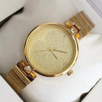 Wholesale lady items - Hot Items Fashion Women Dress Watch Gold silver color Steel Bracelet clock Luxury Lady Wristwatch Relojes De Marca Mujer drop shipping