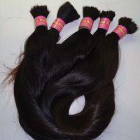 Wholesale 12 inch braiding hair resale online - 100g brazilian braiding hair bulk no weft Brazilian Straight Hair Bulk For Braiding Bundle to Inch Natural Color Hair Extensions