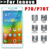 tempered glass cleaner 2018 - MLLSE Ultra Thin 9H Tempered glass For Lenovo P70 P70T 2.5D Screen protector for p70 HD glass film +with clean tools