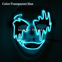 Wholesale rave supplies - DC-3V Steady on Driver Rave Party Mask LED Neon Rope Tube EL Wire Event Party Supplies Glow Light Masquerade Mask for Party Supplies