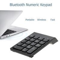 claviers pad achat en gros de-KKMOON Bluetooth 3.0 pavé numérique clavier numérique sans fil 18 touches mini clavier numérique pour iMac / MacBook / MacBook Air / Pro / iPad