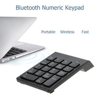 klavye macbook pro toptan satış-KKMOON Bluetooth 3.0 Sayısal Tuş Takımı Kablosuz Numarası Pad iMac için 18 Tuşlar Mini Dijital Klavye / MacBook / MacBook Hava / Pro / iPad