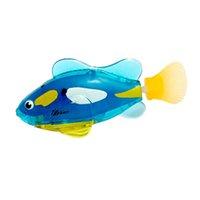 regalos del tanque de los pescados al por mayor-Mascotas electrónicas niños activados por batería nadan peces electrónicos acuario juguetes para mascotas tanque de peces divertido decorar regalo divertido