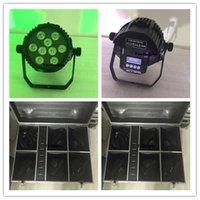 impermeabilizacion led par puede al por mayor-12pcs con el caso de carga IP65 a prueba de agua al aire libre 6in1 led par light 9x18w led mini par puede rgbwa uv led batería inalámbrica par puede