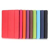 tablette samsung schlank großhandel-Ultra slim flip cover tablet custer folio stehen ledertasche für samsung galaxy tab e 9,6 zoll t560 t561 schutzhülle