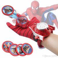 детские игрушки для мальчиков оптовых-Косплей Marvel Мстители Super Heroes Перчатки Лаучер Человек-Паук Железный Человек Один Размер Перчатки Gants Реквизит Рождественский Подарок для малышей игрушки