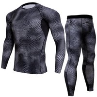 Wholesale Tight Shirts Sport For Men - 2018 Running Set Compression Tights Men Long Sleeve T-shirt Men's Sportwear for Gym Jogging Suit Fitness Sport Suits Clothing