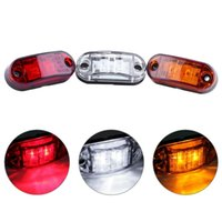 rote led-auto-seitenmarkierungen großhandel-4 Teile / satz 2 LED Auto Auto Lkw Anhänger Caravan Side Marker Licht Freiheit Lampe 12 V 24 V Weiß / Rot / Gelb Farbe Universal
