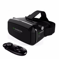 Wholesale google vr for sale - 2016 Shinecon Pro Google Cardboard VR BOX Version VR Virtual Reality Glasses Shutter Movies Games for Smartp