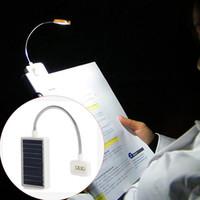 ingrosso libro stand per la lettura-Mini Solar Power LED Book Light Clip su flessibile Lampada da tavolo a LED regolabile per leggio e luce di lettura del libro