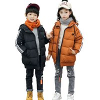 winter parkas for kids Canada - 2018 winter jacket for girls boys hooded warm coat children cotton thick down jacket kids fashion casual parka for girls