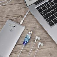 micrófonos de diamantes al por mayor-VBESTLIFE Teléfono Mic 2-en-1 Mini Micrófono con micrófono incrustado de diamante Auricular Micrphone Envío gratis