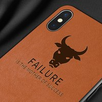 iphone hüllen cowboy großhandel-Heißer verkauf luxus vintage leder haut abdeckung cowboy stoßfest antiklopf telefon case für iphone 6s 7 8 x xs xr xs max