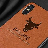iphone vaqueiro venda por atacado-Venda quente de Luxo Capa De Pele De Couro Do Vintage Cowboy À Prova de Choque Anti-Batida Telefone case para iphone 6 s 7 8x xs xr xs max