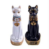 home s3 groihandel-Ägypten Katze Dekoration Zubehör Vintage Wohnkultur Figuren Statuetten Ostern Souvenirs Miniatur Lucky Geschenke Puppen S3