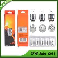 v8 ücretsiz toptan satış-TFV8 Bebek Bobin kafası V8 Bebek Değiştirme T8 T6 X4 M2 Q2 TFV8 Için 0.4ohm 0.6ohm Bebek Tankı Ücretsiz DHL 0266110-01