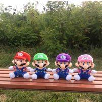 Wholesale green figurines - 20cm Super Mario Figure Plush Soft Stuffed toy Super Mario Bors Figure Mario Luigi Figurine Plush toys for boy girl Game oyuncak