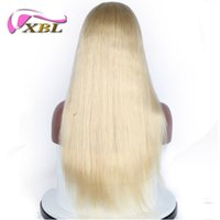 Wholesale baby blonde hair for sale - XBL Virgin Silky Straight Density Blonde Front Lace Wigs With Baby Hair In Stock Human Hair Wigs Brazilian Lace Wigs