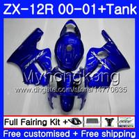 Wholesale zx12r blue for sale - Injection Tank For KAWASAKI NINJA ZX R ZX R HM ZX1200 C CC Glossy blue hot ZX R ZX12R Fairings kit