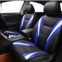 fundas de asiento de coche universal rojo al por mayor-Car-pass Summer Luxury Two Color funda de asiento universal fundas de asiento de coche Red Blue Whole Car Seat cushion Car Accessories