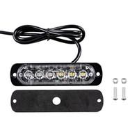 12v led mini luz estroboscópica al por mayor-Car Styling 6 LED Car Mini Barra de luz de emergencia 18 Modo intermitente 12V / 24V led Luz estroboscópica para Vehivle Universal o Camión