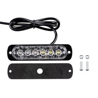 Wholesale 24v strobe lights resale online - Car Styling LED Car Mini Emergency Light Bar Flashing Mode V V led Strobe light for Universal Vehivle or Truck