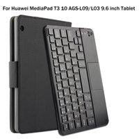 Wholesale Detachable Keyboard - For Huawei MediaPad T3 10 AGS-L09 L03 9.6 inch Tablet Magnetically Detachable ABS Bluetooth Keyboard PU Leather Case Cover +Gift